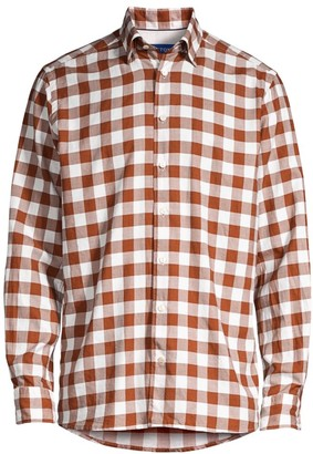Eton Contemporary-Fit Large Scale Gingham Shirt