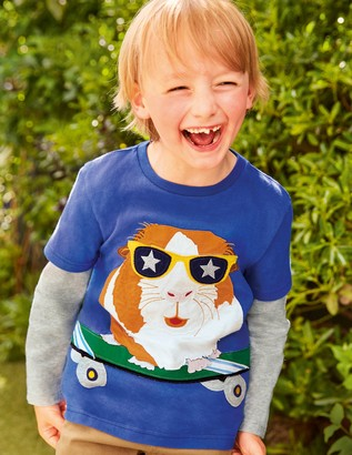 Sporty Animal Applique T-shirt