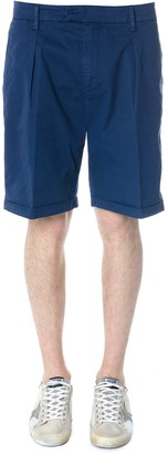 Dondup Blu Classic Shorts In Cotton