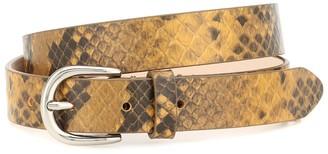Isabel Marant Snake-effect leather belt