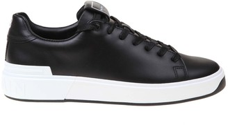 Balmain B Court Sneaker In Black Leather