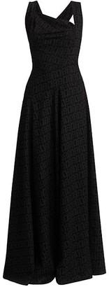 Alaia Asymmetric Sleeveless Gown