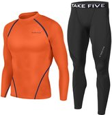 JustOneStyle Men Sports Apparel Skin Tights Compression Base Under Layer Shirts & Pants SET (, L)