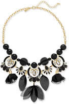 INC International Concepts Gold-Tone Stone, Crystal & Mesh Fabric Statement Necklace, Created for Macy's