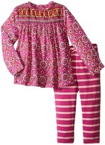 Pink Chicken Lucy 2 Piece Set (Baby) - Meadow Mauve Border Print - 6-12 Months