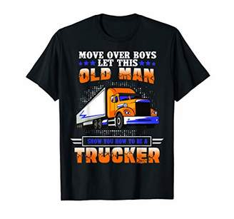 Möve Mens Over Boys Let This Old Man Show You How To Be A Trucker T-Shirt