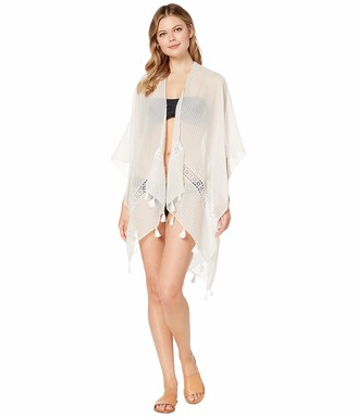 Collection XIIX Women's Coverup with Lace Inserts and Tassels