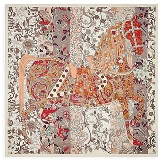 Salvatore Ferragamo Princeper Horse Silk Scarf