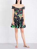 Caroline Constas Maria off-the-shoulder cotton-blend dress