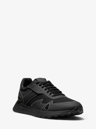 Michael Kors Miles Mesh and Leather Trainer