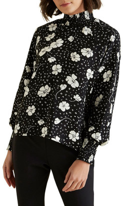 Seed Heritage Shirred Floral Blouse No