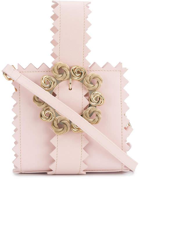Jacquemus Le Sac Gitan zigzag leather clutch bag