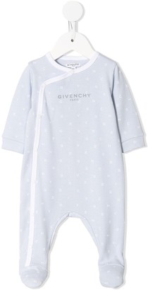 Givenchy Kids All Over Logo Print Cotton Pajamas