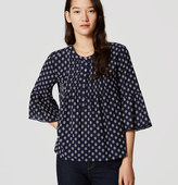 LOFT Geo Bell Sleeve Top