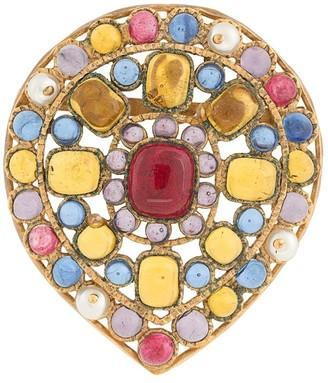 1994 Chanel stone brooch