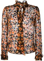 Lanvin floral print sheer shirt