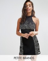 Boohoo Petite A Line Lace Dress