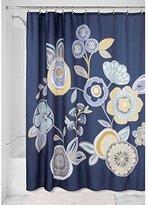 "InterDesign Garden Floral Fabric Shower Curtain - 72"" x 72"", Navy Multi Color"
