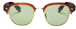 Oliver Peoples Men's Polarized Square Sunglasses, 52mm