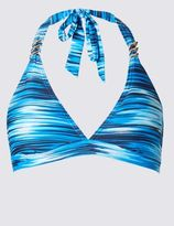 Marks and Spencer Ripple Stripe Halterneck Bikini Top