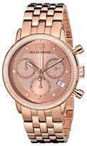 88 Rue du Rhone Women's 87WA130002 Double 8 Analog Display Swiss Quartz Rose Gold Watch
