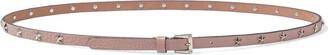 Red(V) Star Studded Textured-leather Belt