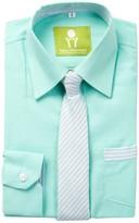 Future Trillionaire Dapper Dude Solid Chambray Shirt & Striped Tie (Toddler, Little Boys, & Big Boys)