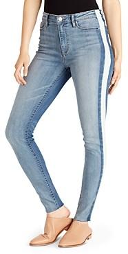 Ella Moss Striped High-Rise Skinny Jeans in Calla