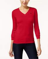 Lacoste Cotton V-Neck Sweater