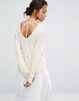 Suncoo Open Back Sweater