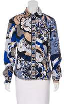 Emilio Pucci Printed Button-Up Top