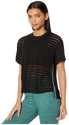 Hard Tail Short Sleeve Racer Tee (Black) Women's Clothing