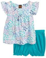 Tea Collection Jungle Floral Top & Bubble Shorts Set