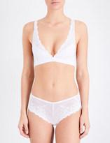 Wacoal Embrace stretch-lace soft-cup bra
