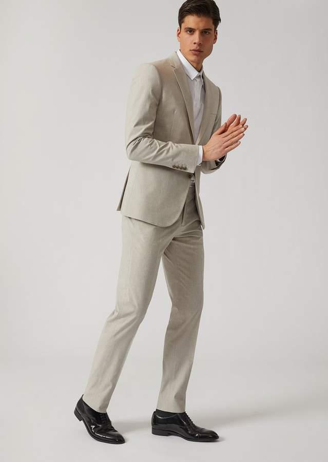 Emporio Armani Single-Breasted Stretch Cotton Suit