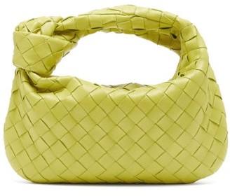 Bottega Veneta Jodie Mini Intrecciato Leather Shoulder Bag - Green