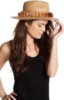 BCBGMAXAZRIA Straw Fringe Panama Hat