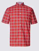 Blue Harbour Cotton Rich Oxford Shirt With Pocket