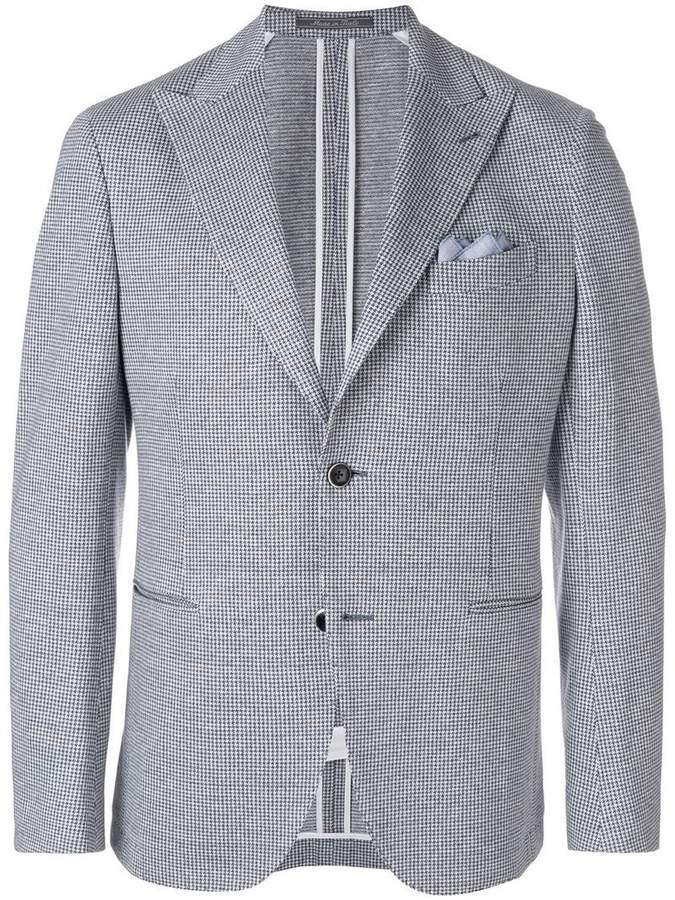 Cantarelli houndstooth print suit jacket