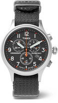Timex Scout Stainless Steel And Webbing Watch - Gray