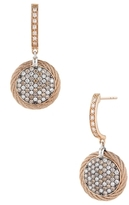 Alor 18K Gold & Stainless Steel with Diamond Earrings