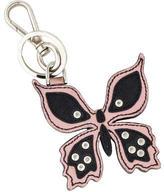 Prada Saffiano Butterfly Keychain