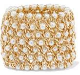 Kenneth Jay Lane Gold-Tone Faux Pearl Bracelet