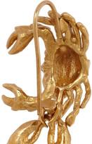 Virzi+De Luca Gold-plated lobster earrings
