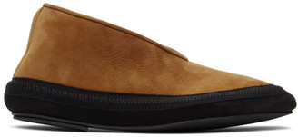 The Row Tan Shearling Fairy Loafers