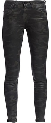 Joe's Jeans The Charlie High-Rise Ankle Skinny Coated Camouflage Jeans