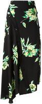 Proenza Schouler asymmetric floral skirt - women - Silk - 2