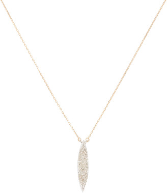Adina Small Pave Marquise Necklace
