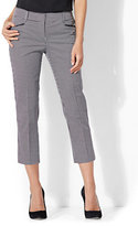 New York & Co. 7th Avenue Pant - Crop Straight Leg - Signature - Grid Print