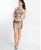 Express cut-out sequin mini dress